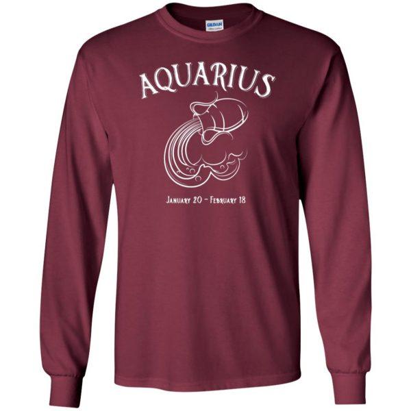 aquarius sweatshirt long sleeve - maroon