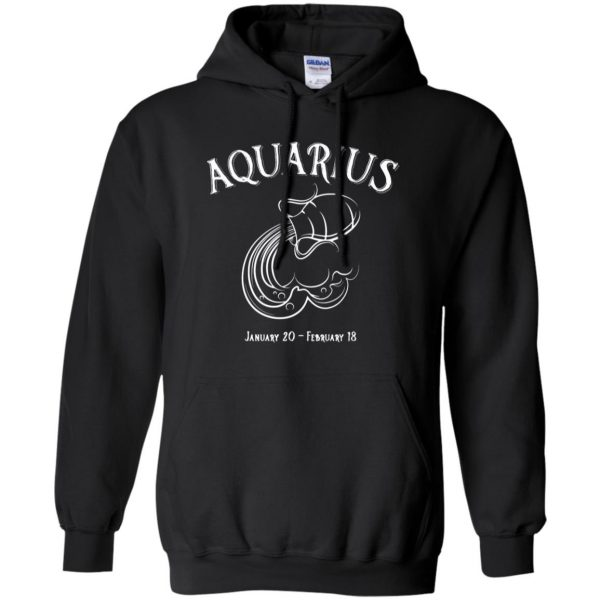 aquarius sweatshirt hoodie - black