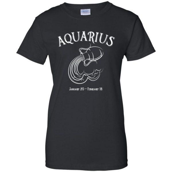 aquarius sweatshirt womens t shirt - lady t shirt - black
