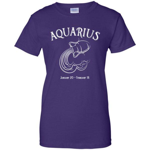aquarius sweatshirt womens t shirt - lady t shirt - purple