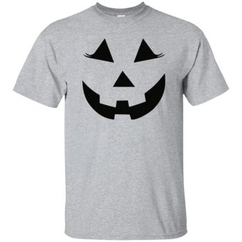 Pumpkin Face t-shirt - sport grey