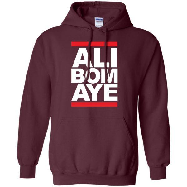 ali bomaye hoodie - maroon