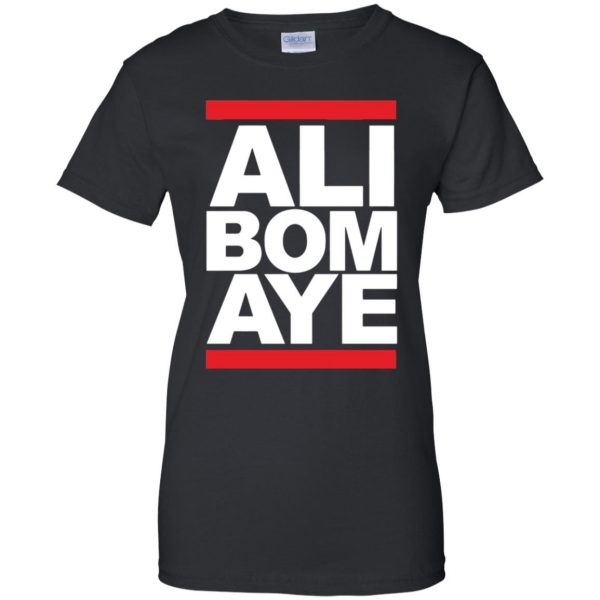 ali bomaye womens t shirt - lady t shirt - black