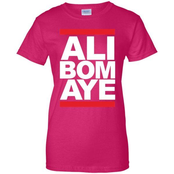 ali bomaye womens t shirt - lady t shirt - pink heliconia