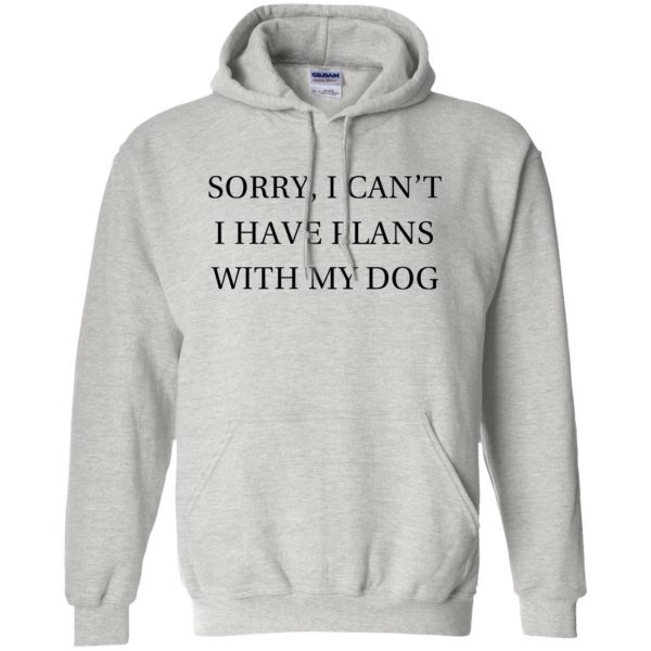 I Can�t I Have Plans With My Dog hoodie - ash