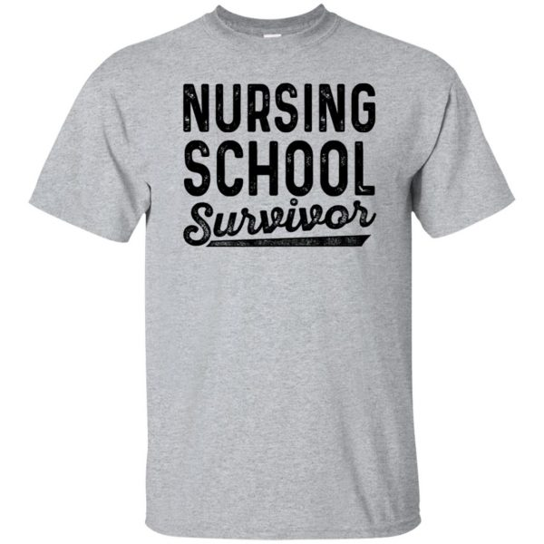 Nursing School Survivor t-shirt - sport grey