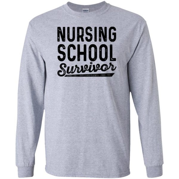 Nursing School Survivor long sleeve - sport grey