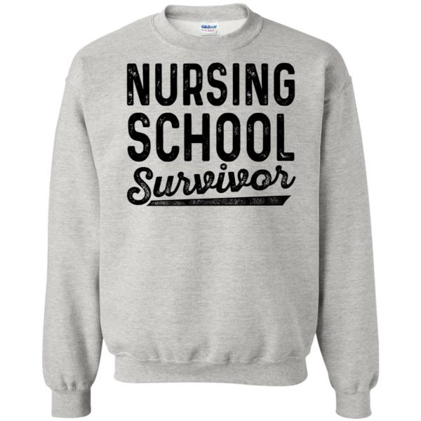 Nursing School Survivor sweatshirt - ash