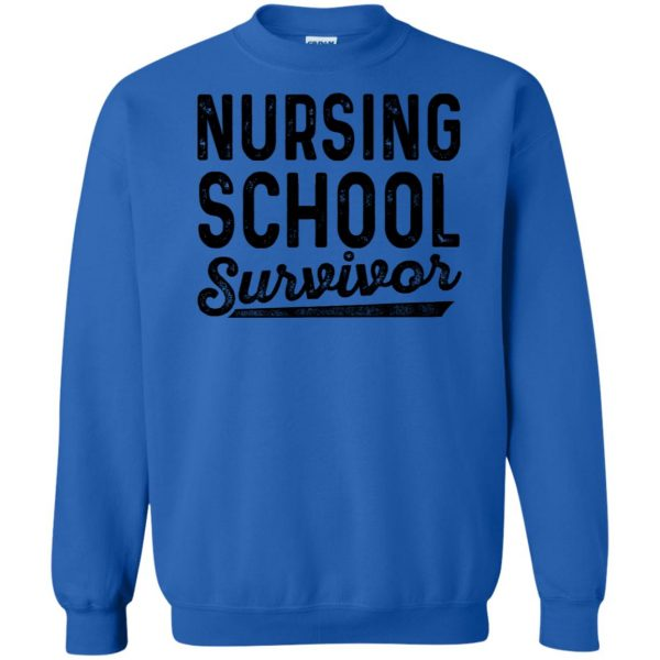 Nursing School Survivor sweatshirt - royal blue