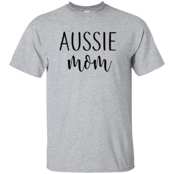 Aussie Mom t-shirt - sport grey