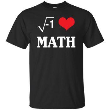 i love math shirt - black