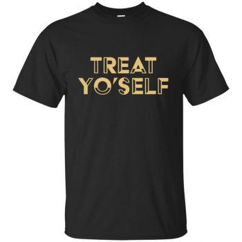 treat yo self tshirt - black