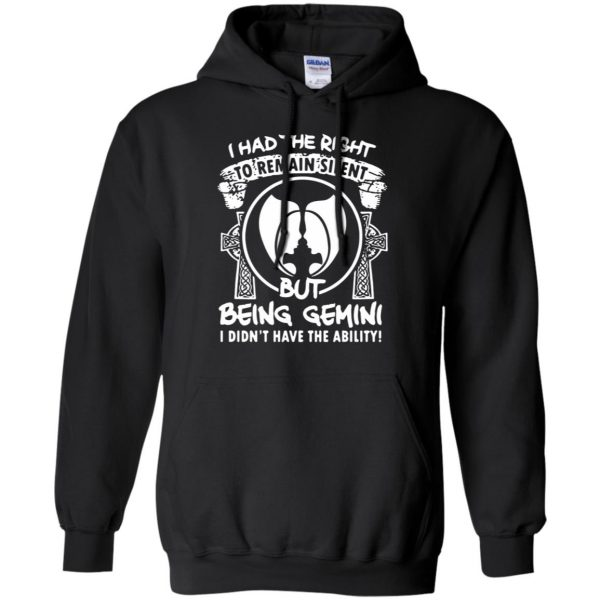 gemini hoodie - black