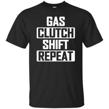 gas clutch shift repeat hoodie - black