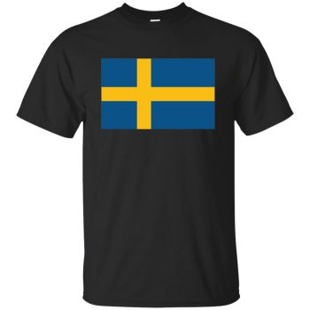 swedish flag shirt - black