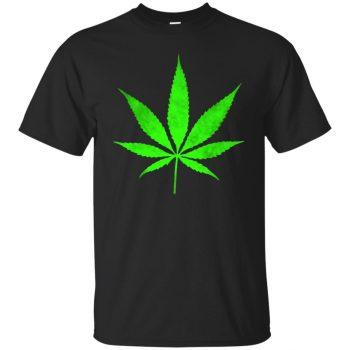 pot leaf hoodie - black