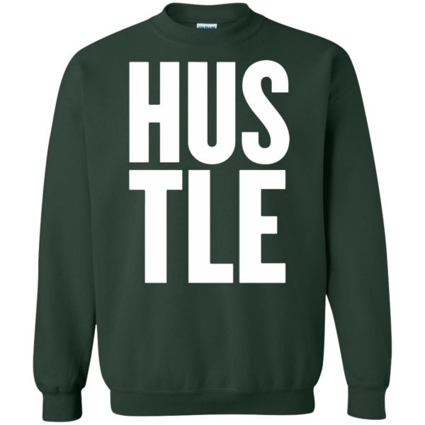 hustle tank top sweatshirt - forest green