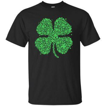 four leaf clover shirt - black