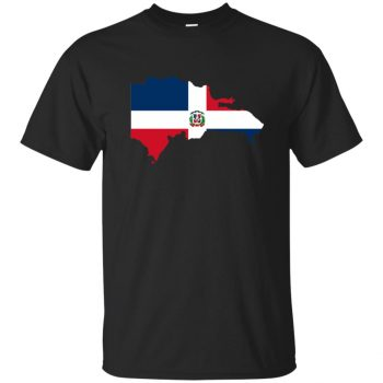 dominican flag shirt - black