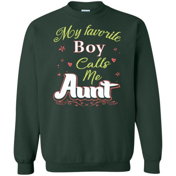 favorite aunt sweatshirt - forest green