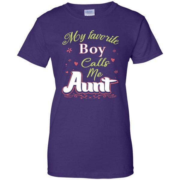 favorite aunt womens t shirt - lady t shirt - purple