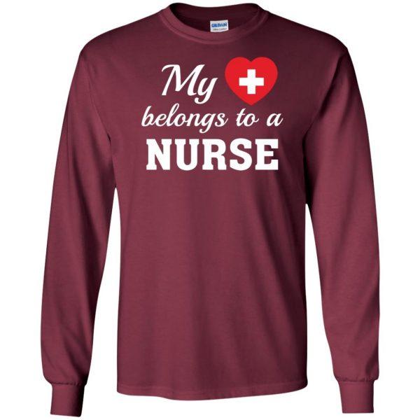 nurse boyfriend long sleeve - maroon