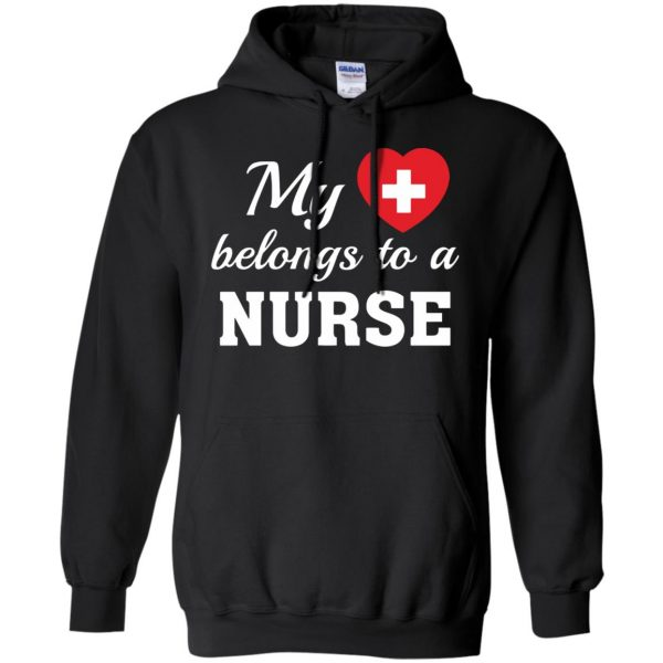 nurse boyfriend hoodie - black