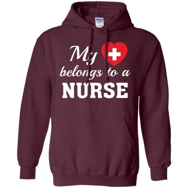 nurse boyfriend hoodie - maroon