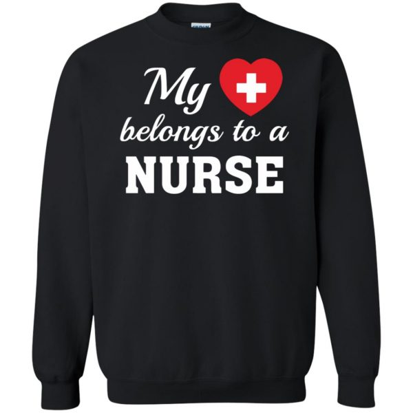 nurse boyfriend sweatshirt - black