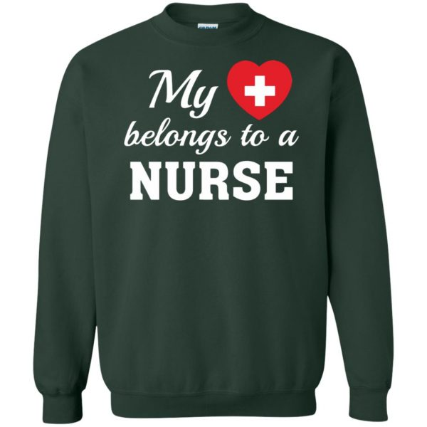 nurse boyfriend sweatshirt - forest green