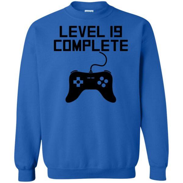 19th birthday sweatshirt - royal blue