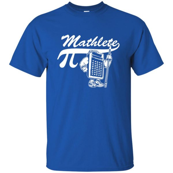 mathlete t shirt - royal blue