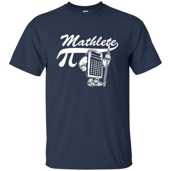 mathlete t shirt - navy blue