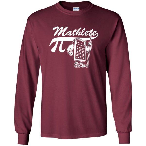 mathlete long sleeve - maroon