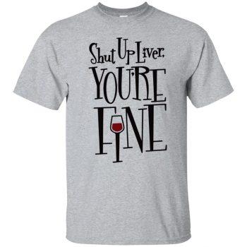 liver t shirt - sport grey