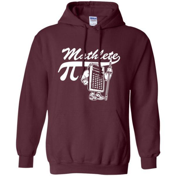 mathlete hoodie - maroon