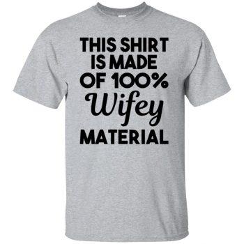 wifey material shirt - sport grey