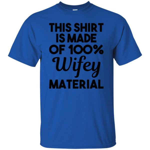 wifey material t shirt - royal blue