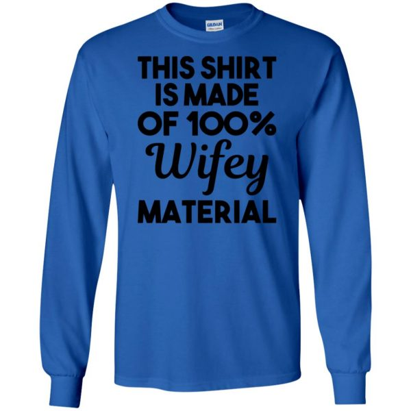 wifey material long sleeve - royal blue