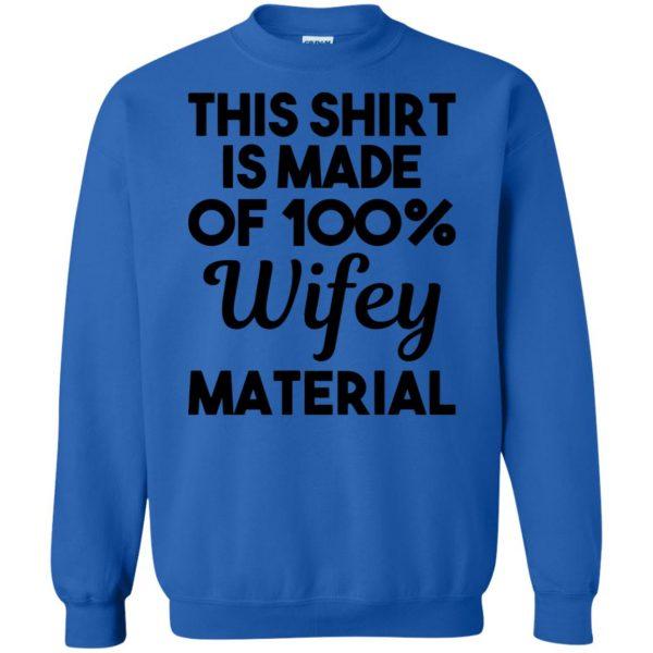 wifey material sweatshirt - royal blue