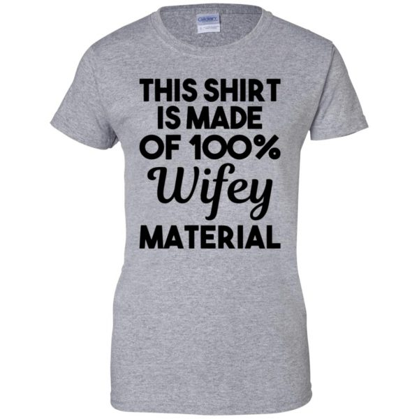 wifey material womens t shirt - lady t shirt - sport grey