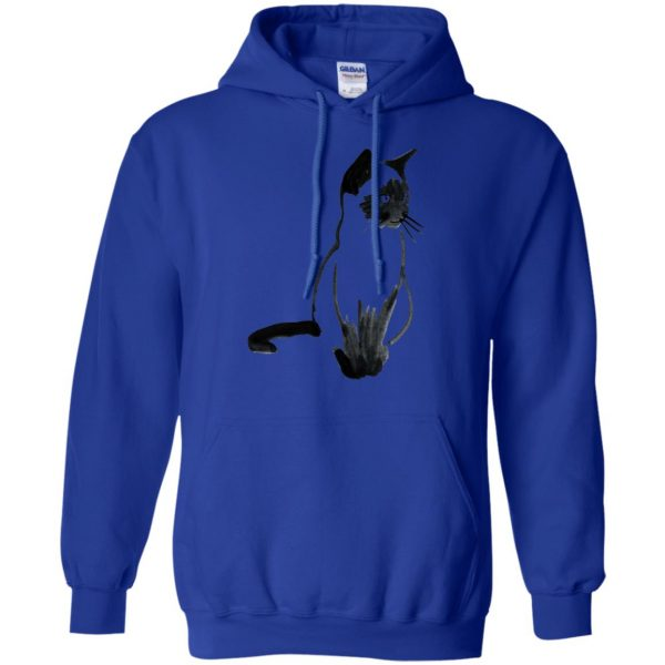 siamese cat hoodie - royal blue