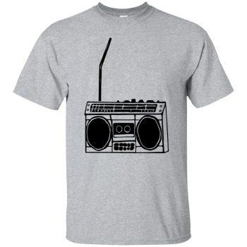 boom box tshirt - sport grey