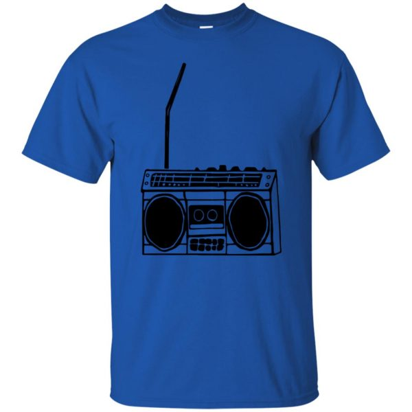 boom box t shirt - royal blue