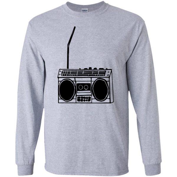 boom box long sleeve - sport grey