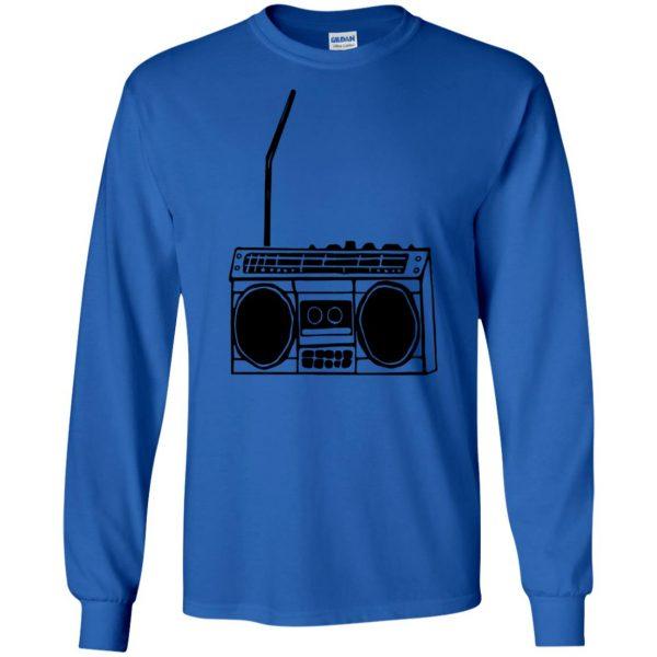 boom box long sleeve - royal blue