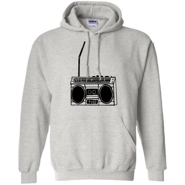 boom box hoodie - ash