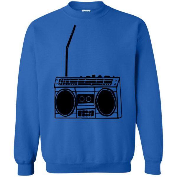 boom box sweatshirt - royal blue