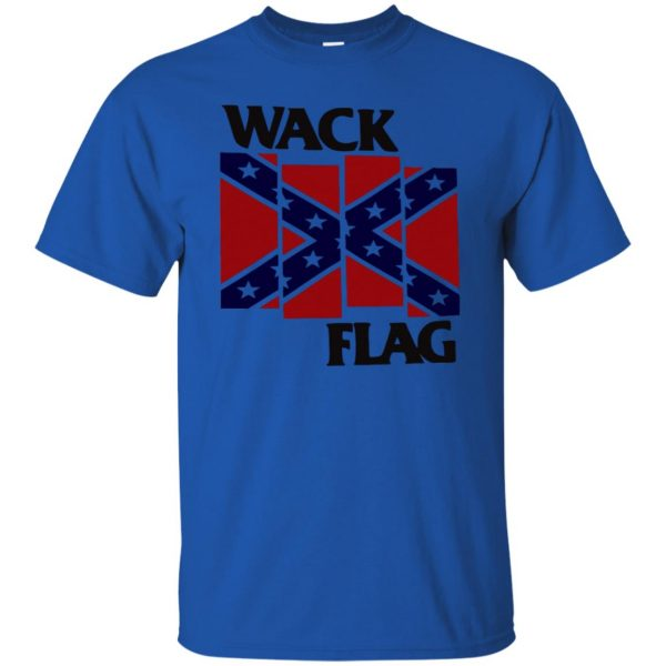rebel flag t shirt - royal blue
