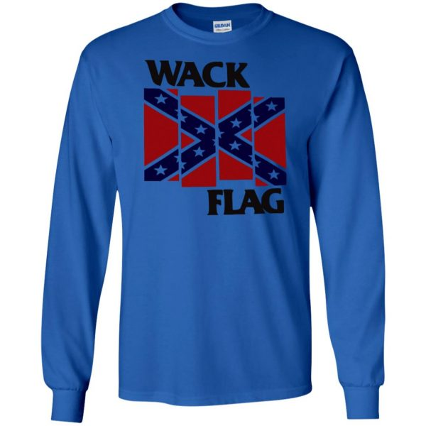 rebel flag long sleeve - royal blue
